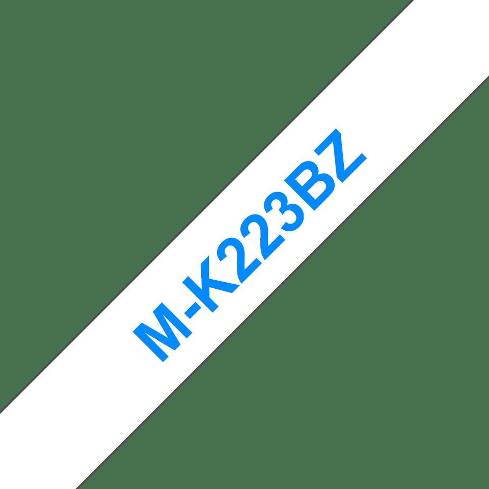 Cassette à ruban pour étiqueteuse M-K223BZ Brother originale – Bleu sur blanc, 9mm de large