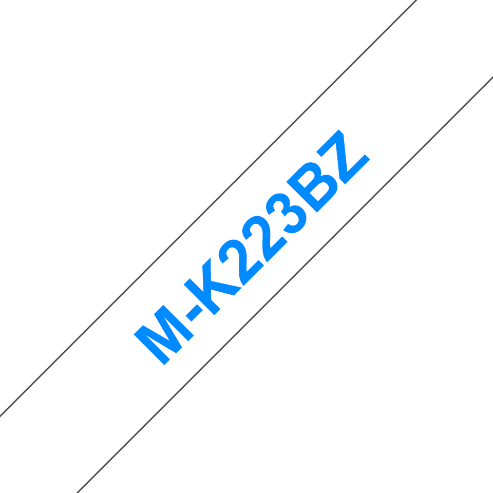 Cassette à ruban pour étiqueteuse M-K223BZ Brother originale – Bleu sur blanc, 9mm de large 0