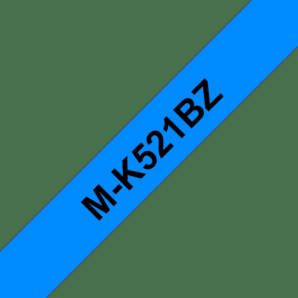 Cassette à ruban pour étiqueteuse M-K521BZ Brother originale – Noir sur bleu, 9mm de large