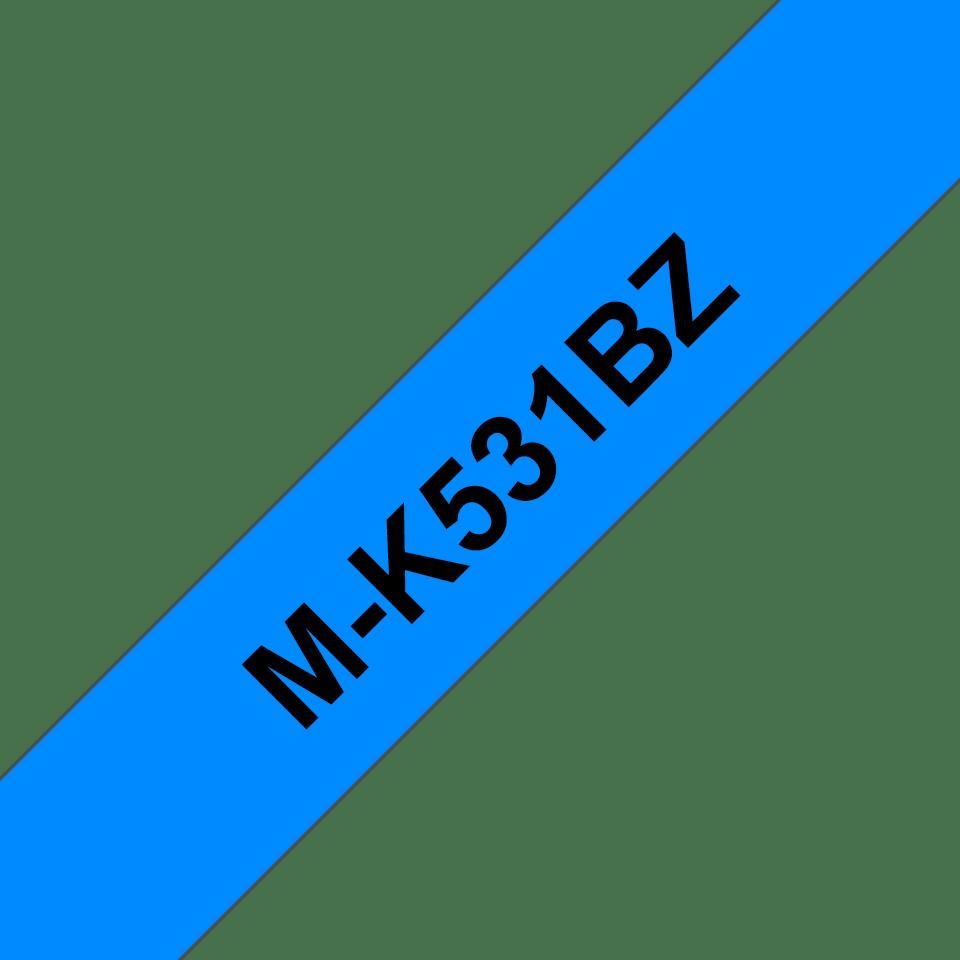 Cassette à ruban pour étiqueteuse M-K531BZ Brother originale – Noir sur bleu, 12mm de large