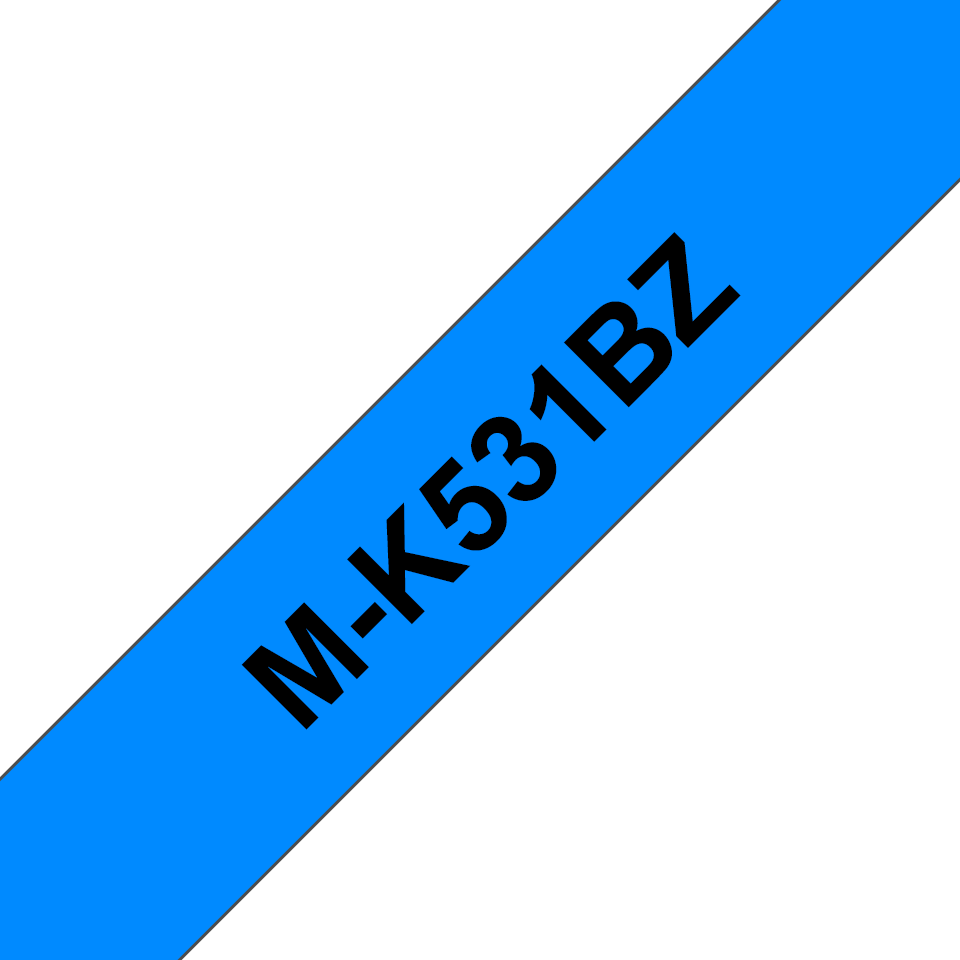 Cassette à ruban pour étiqueteuse M-K531BZ Brother originale – Noir sur bleu, 12mm de large 0