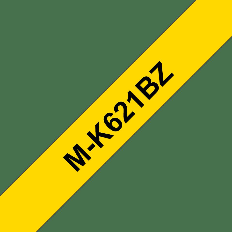Cassette à ruban pour étiqueteuse M-K621BZ Brother originale – Noir sur jaune, 9mm de large
