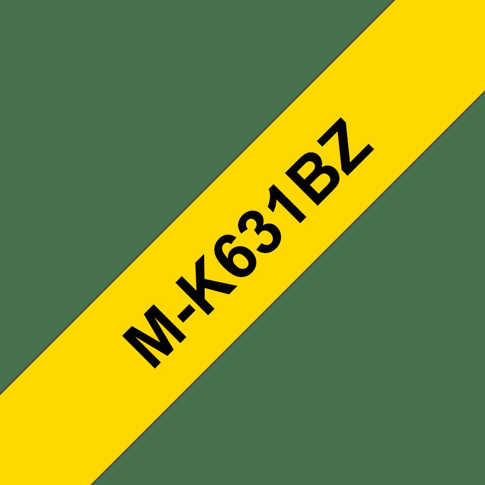 Cassette à ruban pour étiqueteuse M-K631BZ Brother originale – Noir sur jaune, 12mm de large