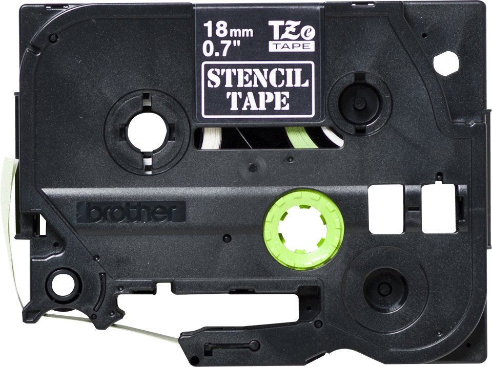 Cassette à ruban pochoir pour étiqueteuse STe-141 Brother originale – Noir, 18 mm de large