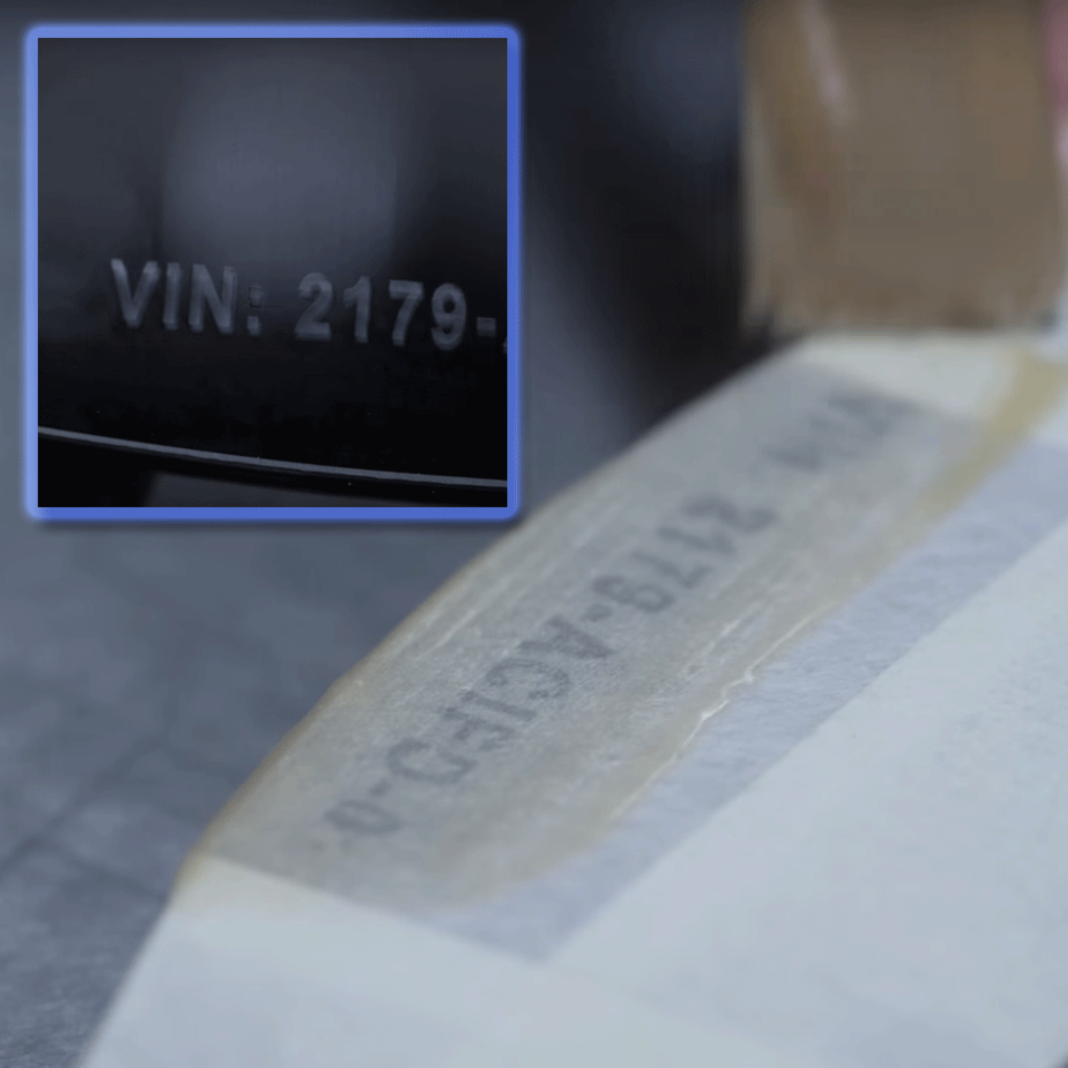 Cassette à ruban pochoir pour étiqueteuse STe-141 Brother originale – Noir, 18mm de large 2