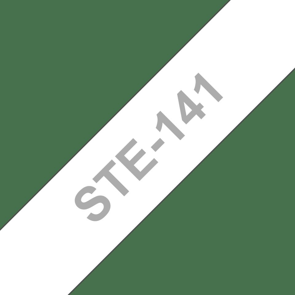 Cassette à ruban pochoir pour étiqueteuse STe-141 Brother originale – Noir, 18mm de large 3
