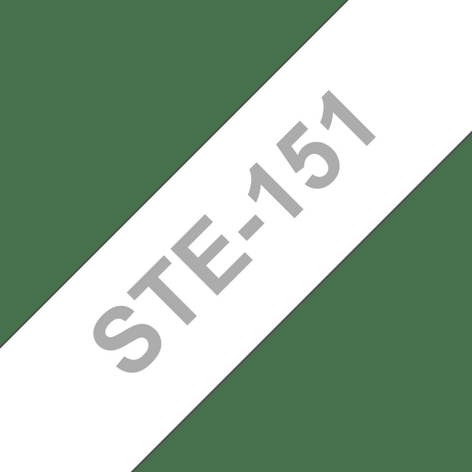 Cassette à ruban pochoir pour étiqueteuse STe-151 Brother original – Noir, 24mm de large 3