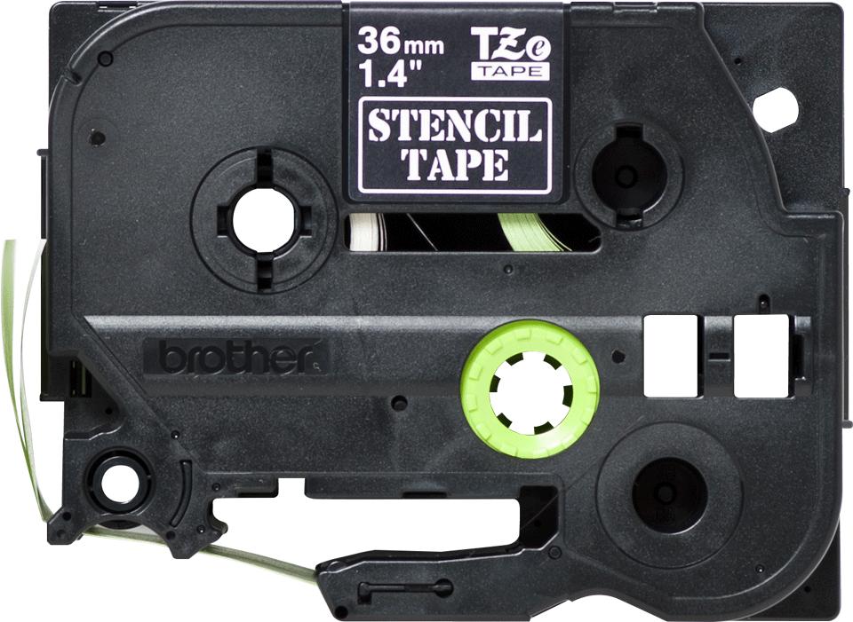 Cassette à ruban pochoir pour étiqueteuse STe-161 Brother originale – Noir, 36mm de large