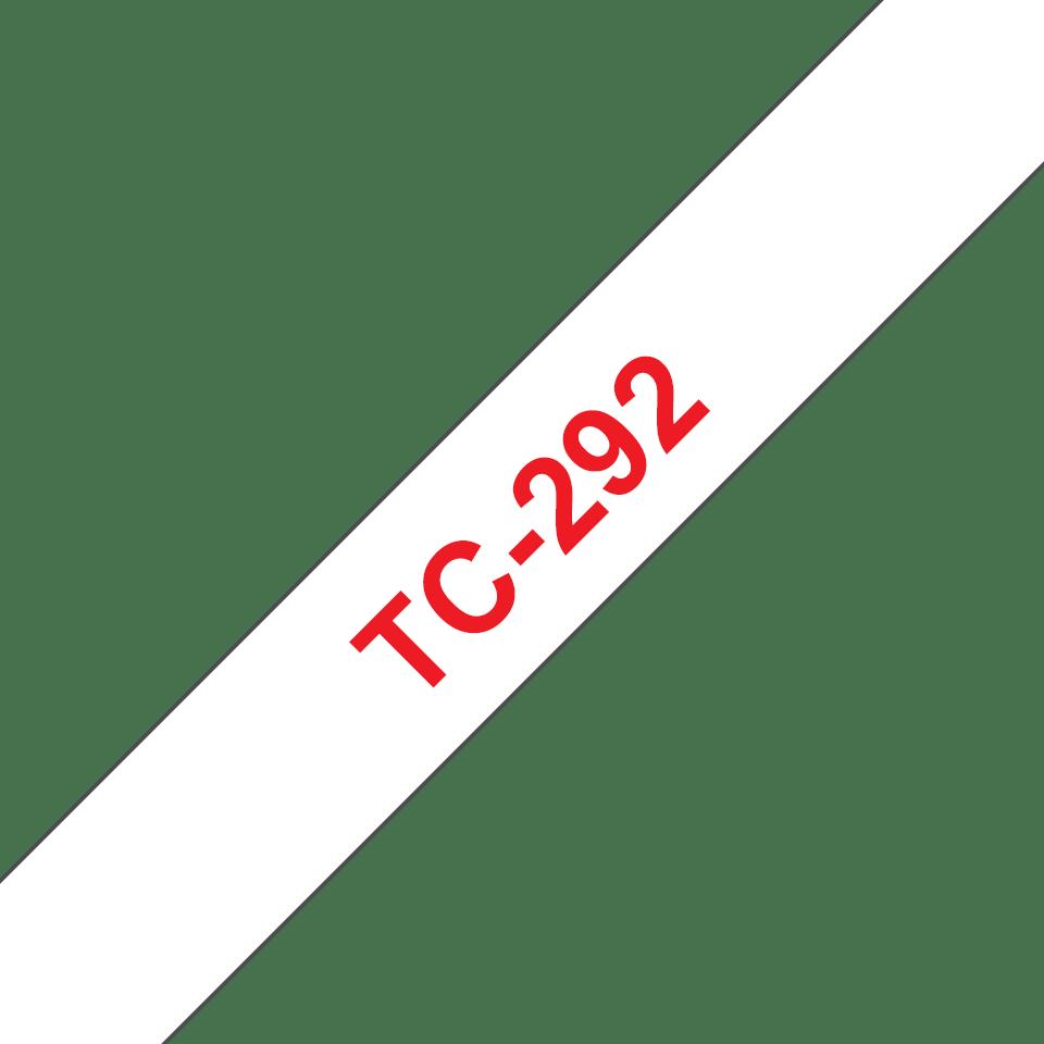 Cassette à ruban pour étiqueteuse TC-292 Brother originale – Rouge sur blanc, 9mm de large