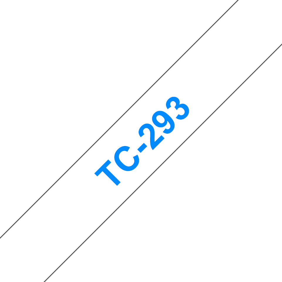Cassette à ruban pour étiqueteuse TC-293 Brother originale – Bleu sur blanc, 9mm de large