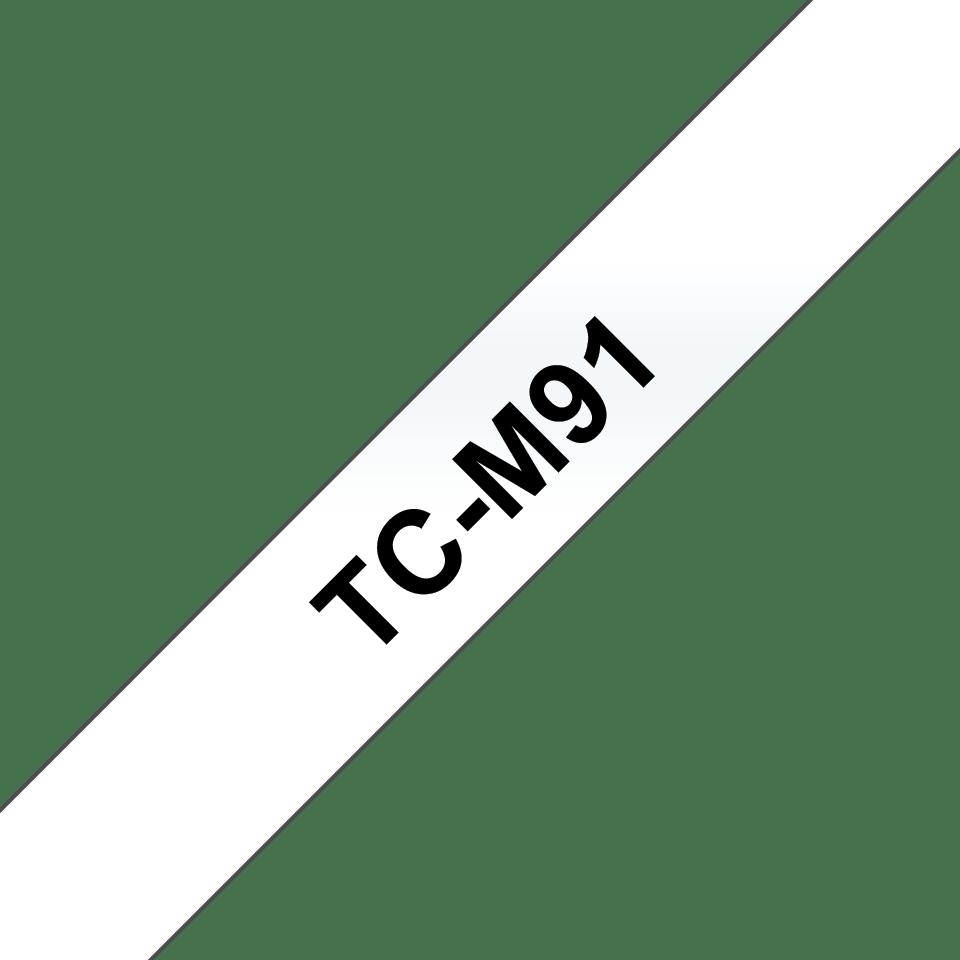 Cassette à ruban pour étiqueteuse TC-M91 Brother originale – Noir sur transparent, 9mm de large