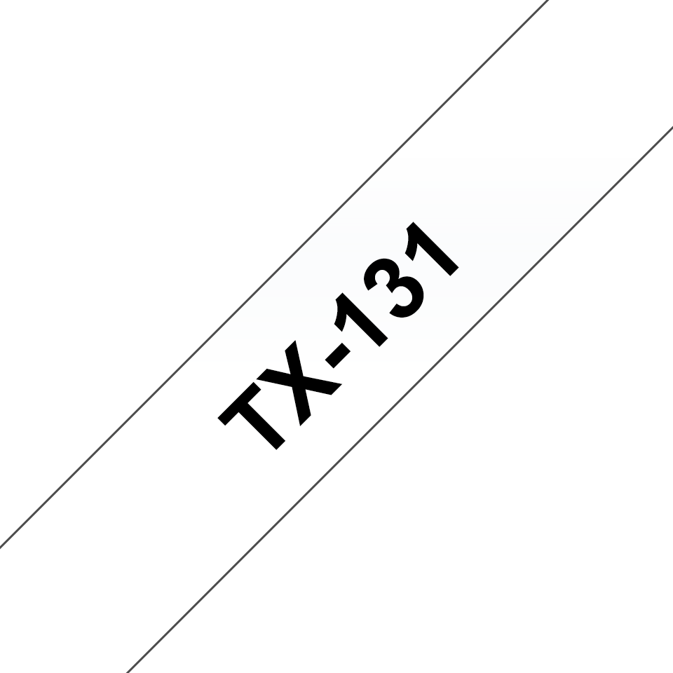 Cassette à ruban pour étiqueteuse TX-131 Brother originale – Transparent, 12mm de large