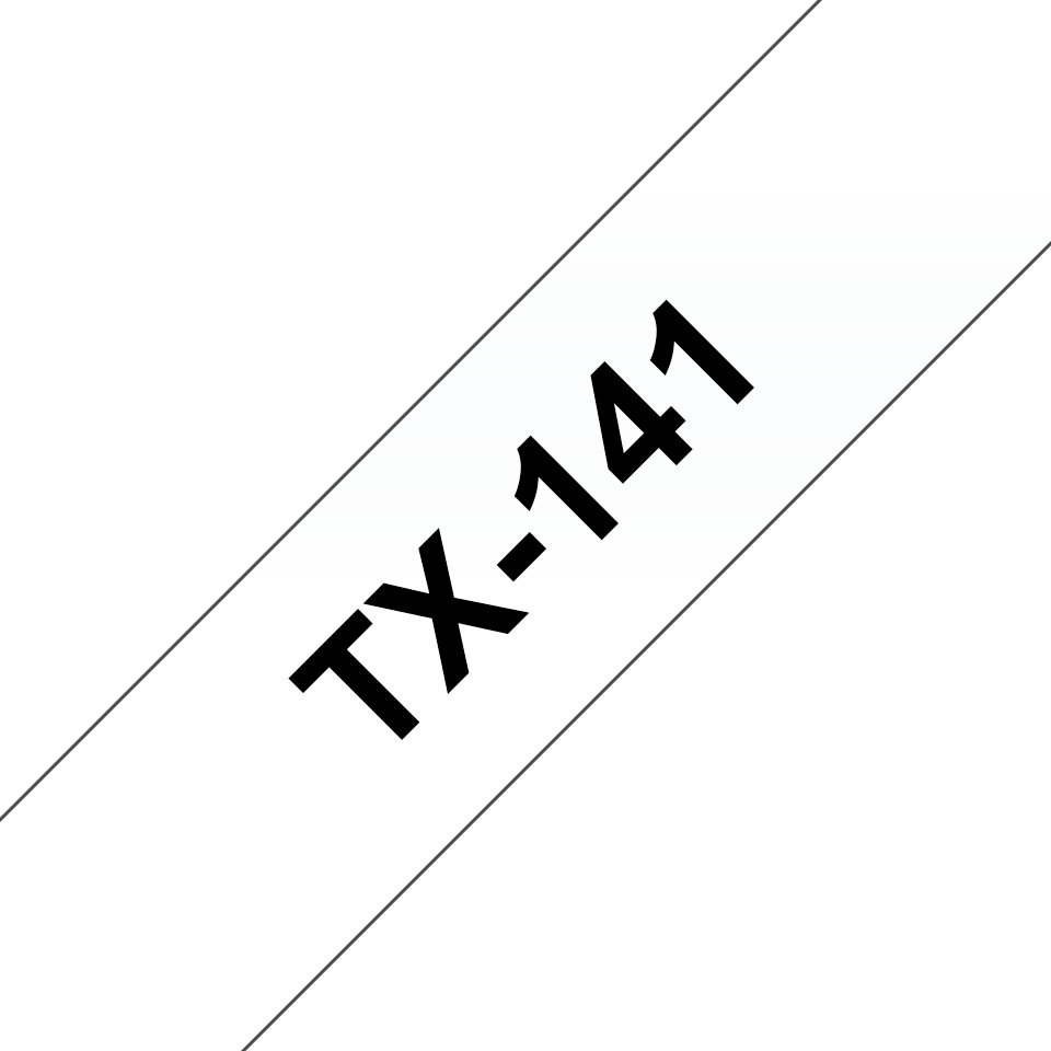 Cassette à ruban pour étiqueteuse TX-141 Brother originale – Transparent, 18mm de large