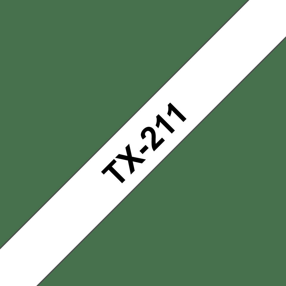 Cassette à ruban pour étiqueteuse TX-211 Brother originale – Noir sur blanc, 6mm de large