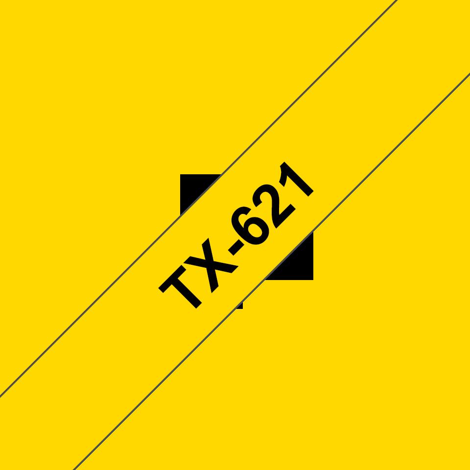 Cassette à ruban pour étiqueteuse TX-621 Brother originale – Noir sur jaune, 9mm de large