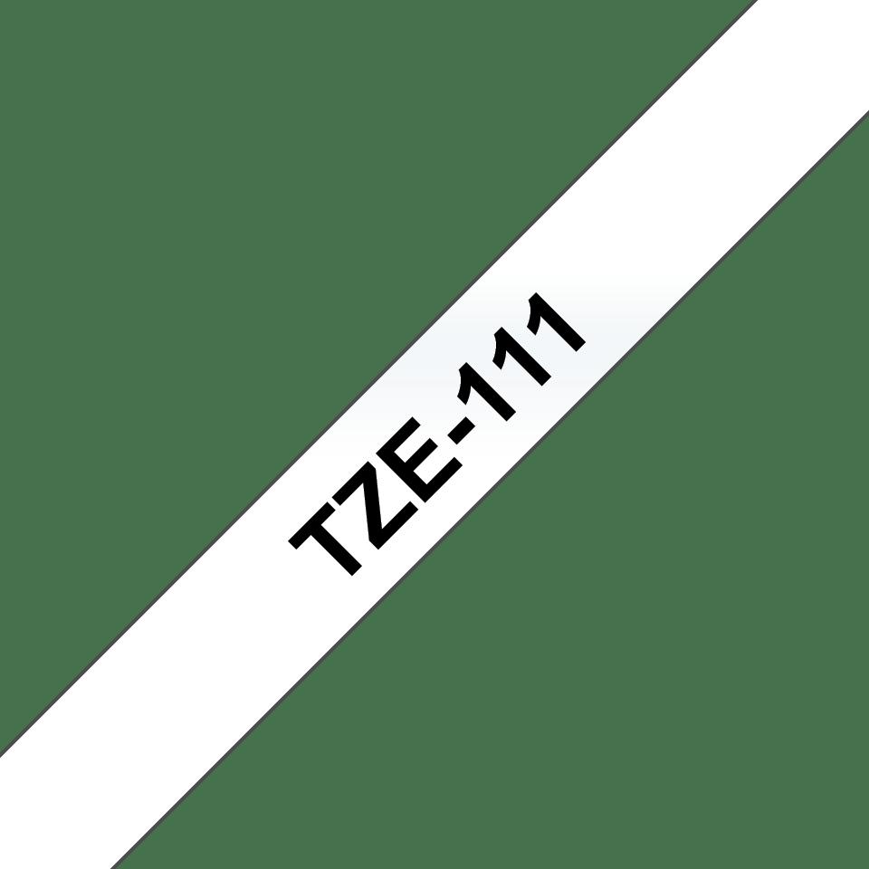 Cassette à ruban pour étiqueteuse TZe-111 Brother originale – Noir sur transparent, 6mm de large 2