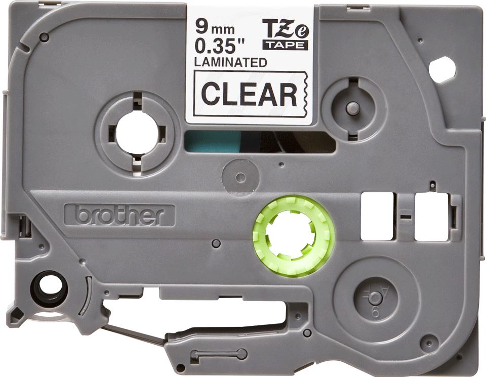 Cassette à ruban pour étiqueteuse TZe-121 Brother originale – Transparent, 9mm de large 2
