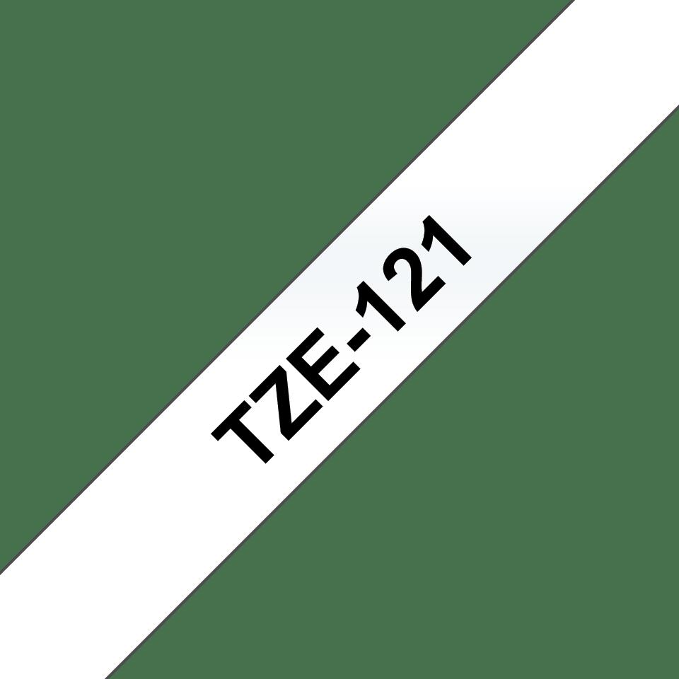Cassette à ruban pour étiqueteuse TZe-121 Brother originale – Transparent, 9mm de large