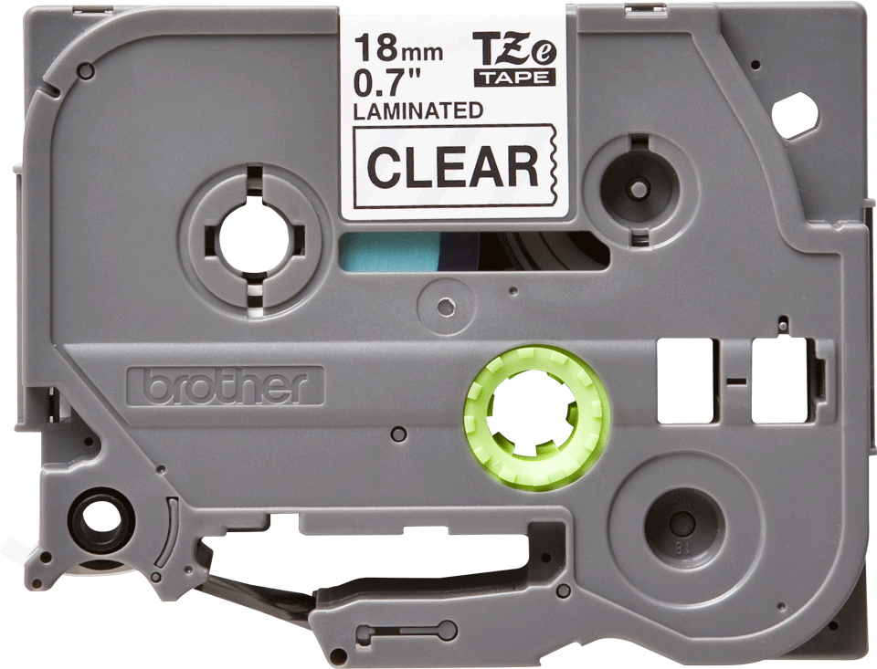 Cassette à ruban pour étiqueteuse TZe-141 Brother originale – Transparent, 18mm de large 0