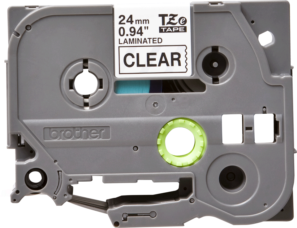 Cassette à ruban pour étiqueteuse TZe-151 Brother originale – Transparent, 24mm de large 2