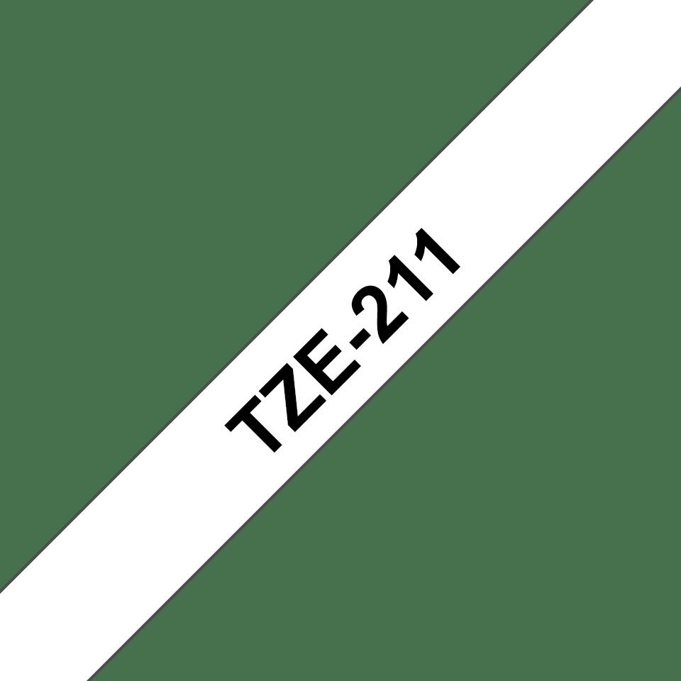 Cassette à ruban pour étiqueteuse TZe-211 Brother originale – Noir sur blanc, 6mm de large