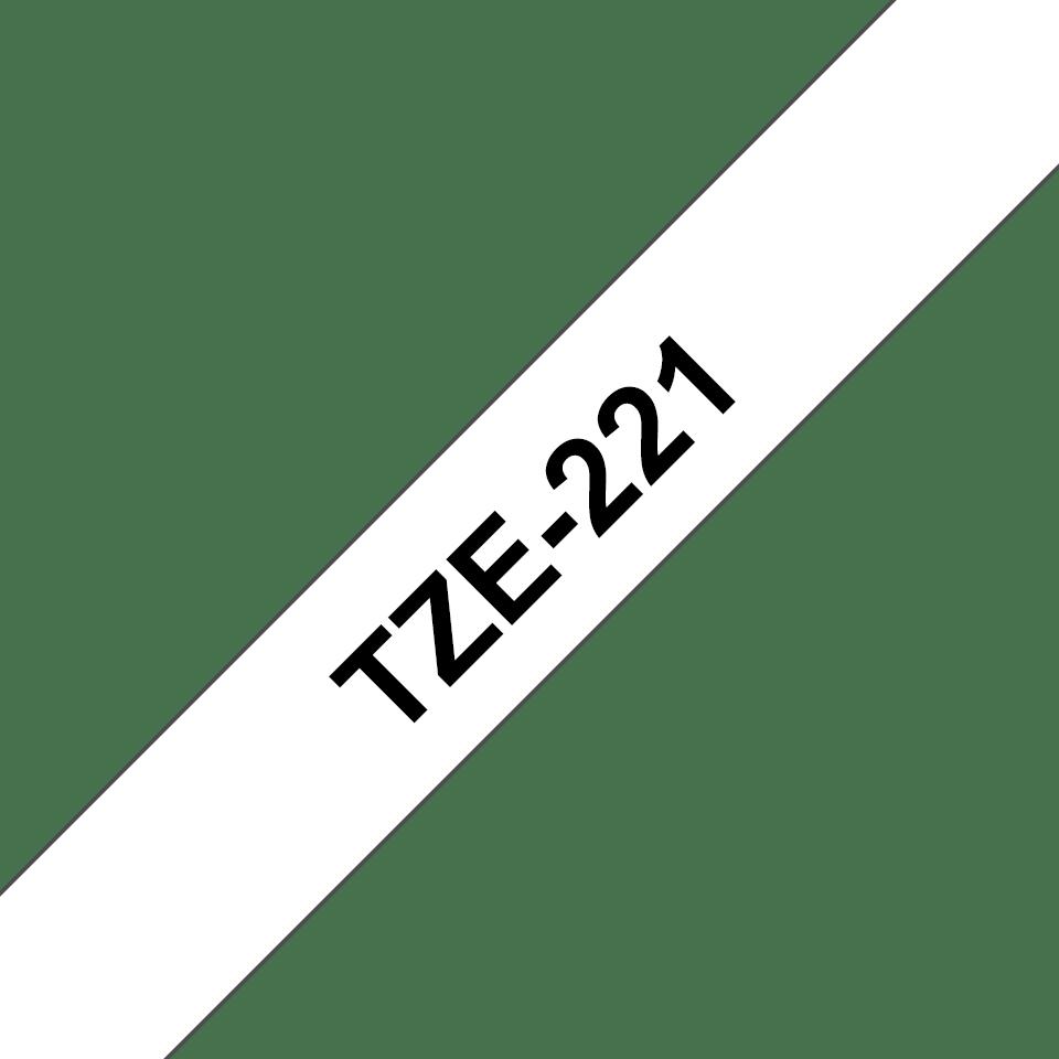 Ruban pour étiqueteuse TZe-221 Brother original – Noir sur blanc, 9mm de large 2