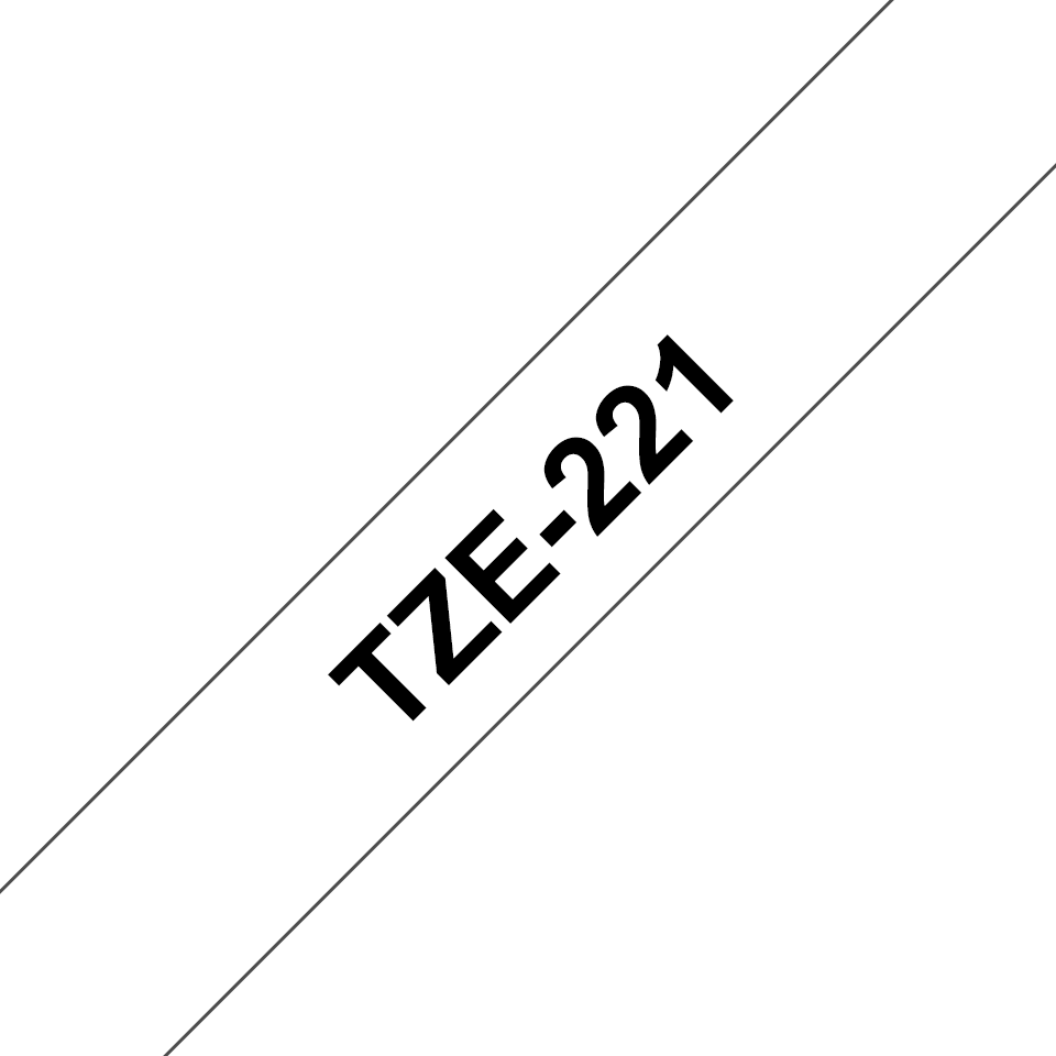 Ruban pour étiqueteuse TZe-221 Brother original – Noir sur blanc, 9mm de large