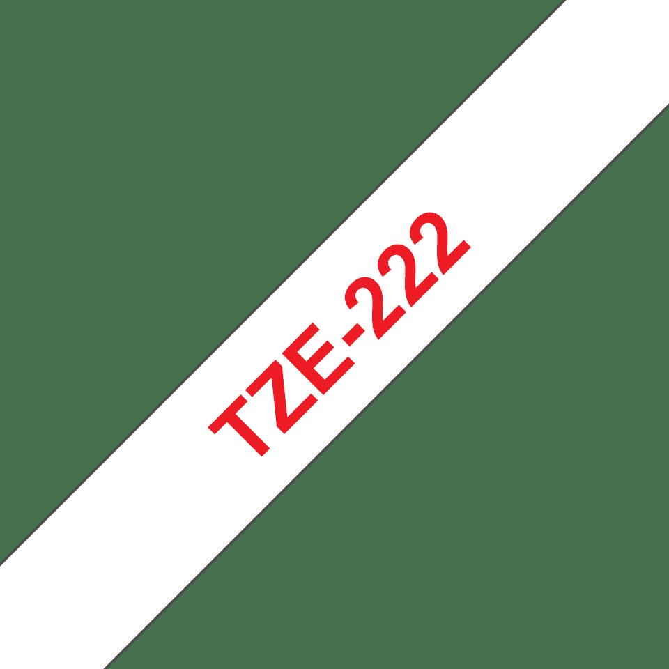 Cassette à ruban pour étiqueteuse TZe-222 Brother originale – Rouge sur blanc, 9mm de large 3