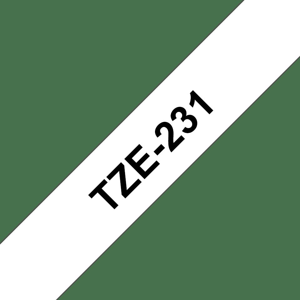 Cassette à ruban pour étiqueteuse TZe-231 Brother originale – Noir sur blanc, 12mm de large