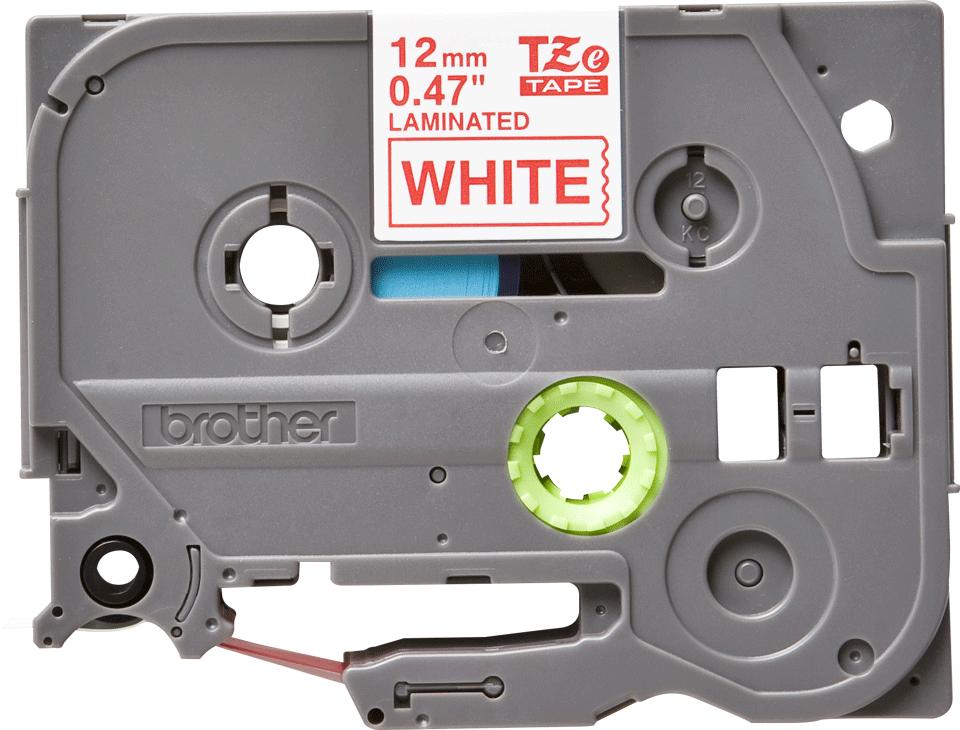 Cassette à ruban pour étiqueteuse TZe-232 Brother originale – Rouge sur blanc, 12mm de large 0