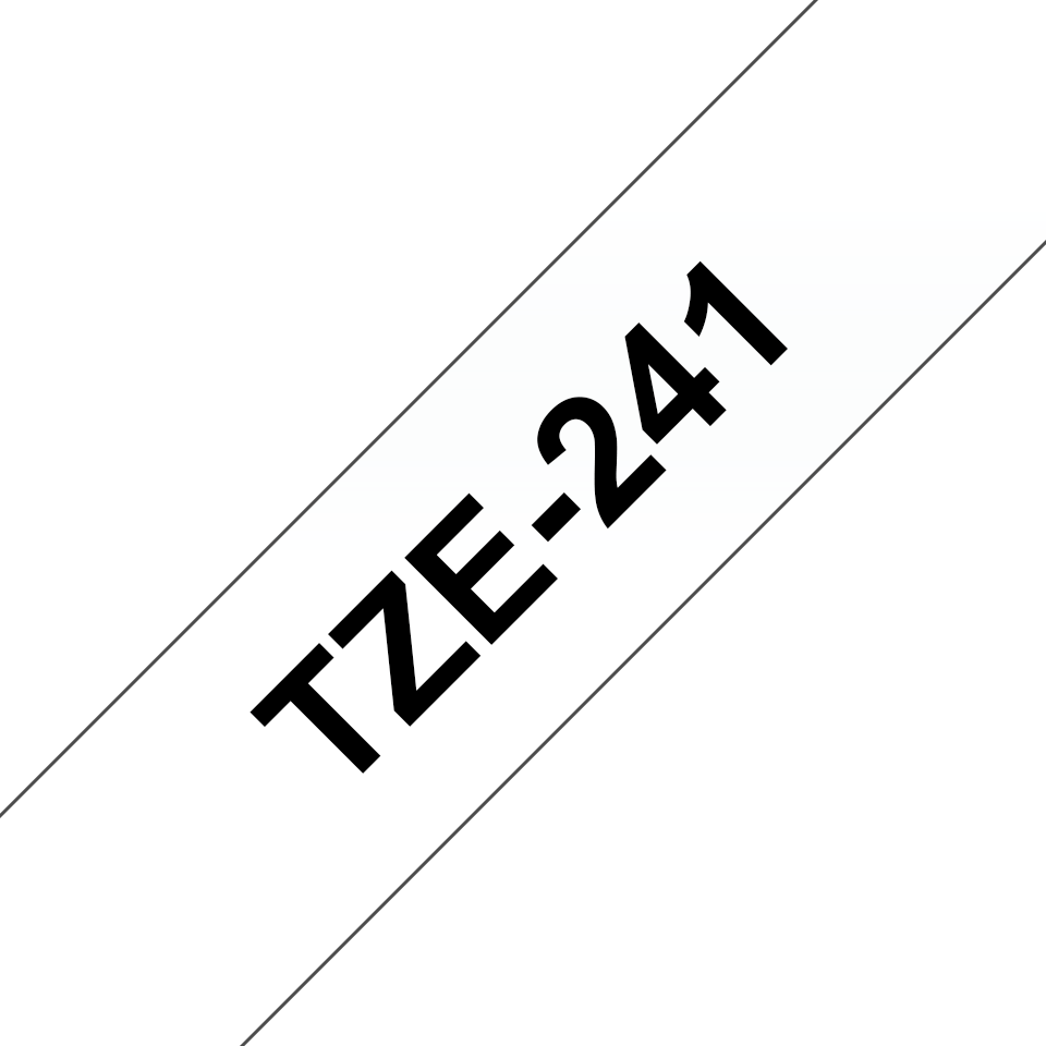Cassette à ruban pour étiqueteuse TZe-241 Brother originale – Noir sur blanc, 18mm de large