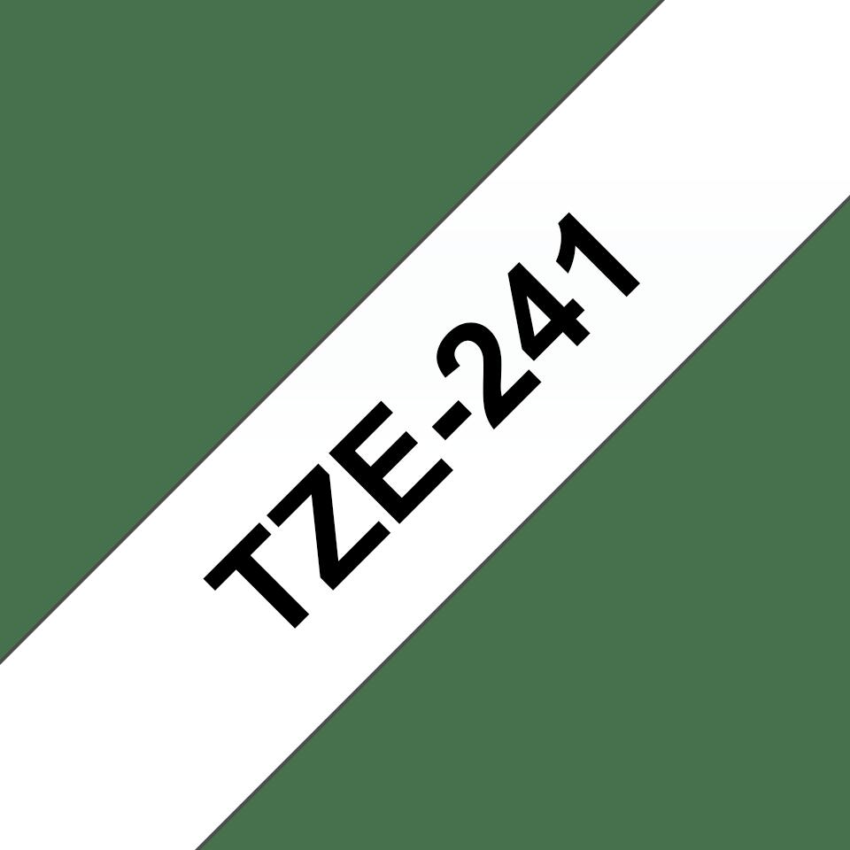 Cassette à ruban pour étiqueteuse TZe-241 Brother originale – Noir sur blanc, 18mm de large 3