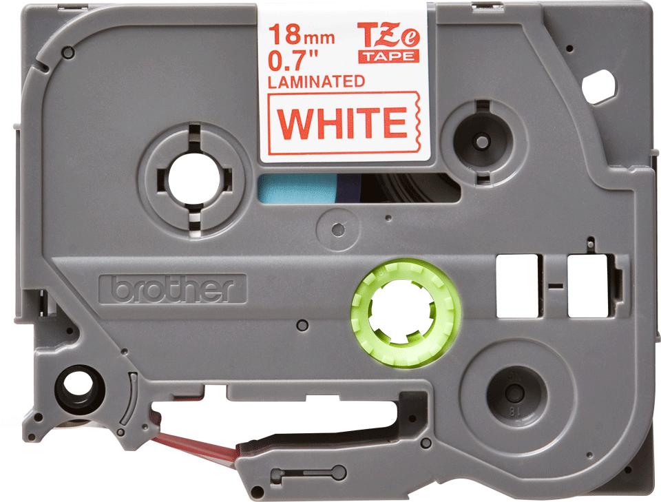 Cassette à ruban pour étiqueteuse TZe-242 Brother originale – Rouge sur blanc, 18mm de large