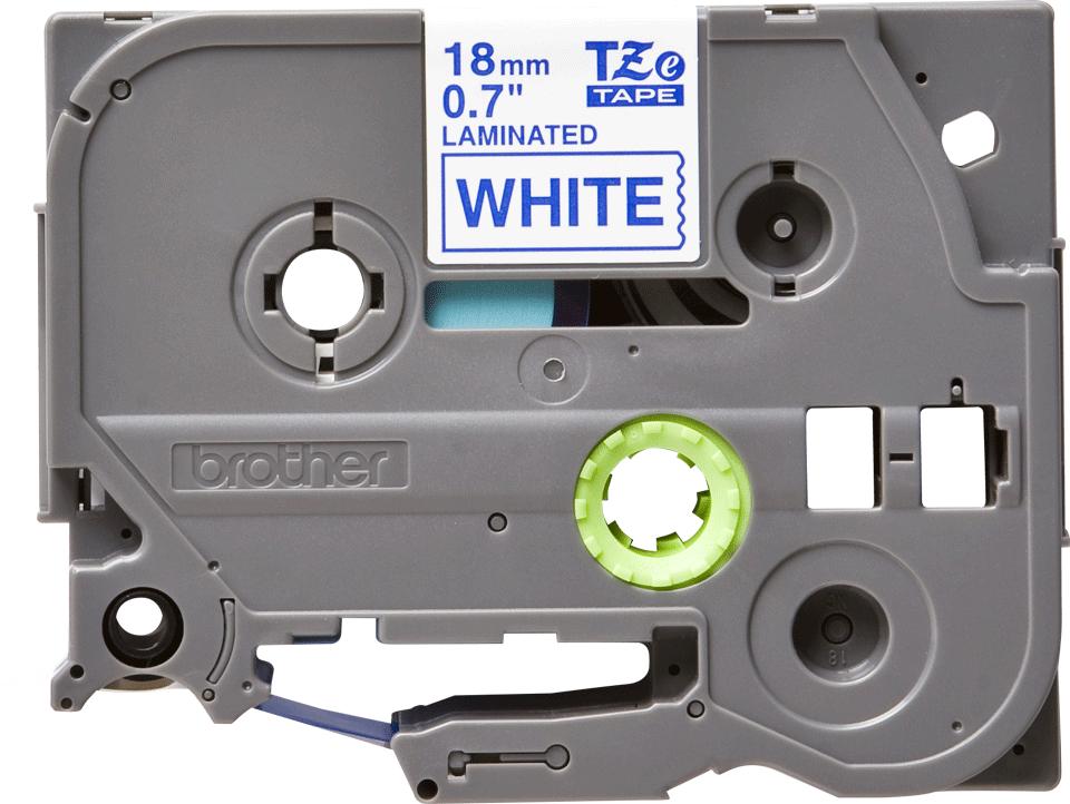 Cassette à ruban pour étiqueteuse TZe-243 Brother originale – Bleu sur blanc, 18mm de large 2