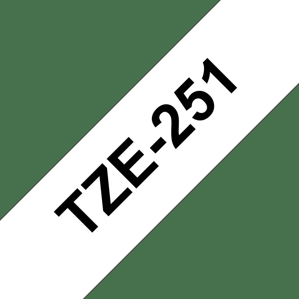 Ruban pour étiqueteuse TZe-251 Brother original – Noir sur blanc, 24mm de large