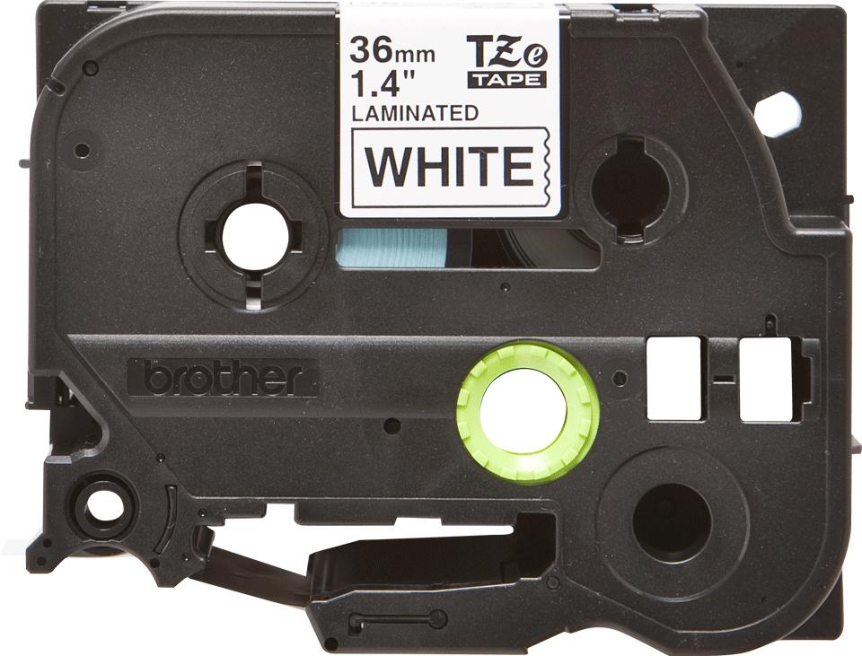 Cassette à ruban pour étiqueteuse TZe-261 Brother originale – Noir sur blanc, 36mm de large 0