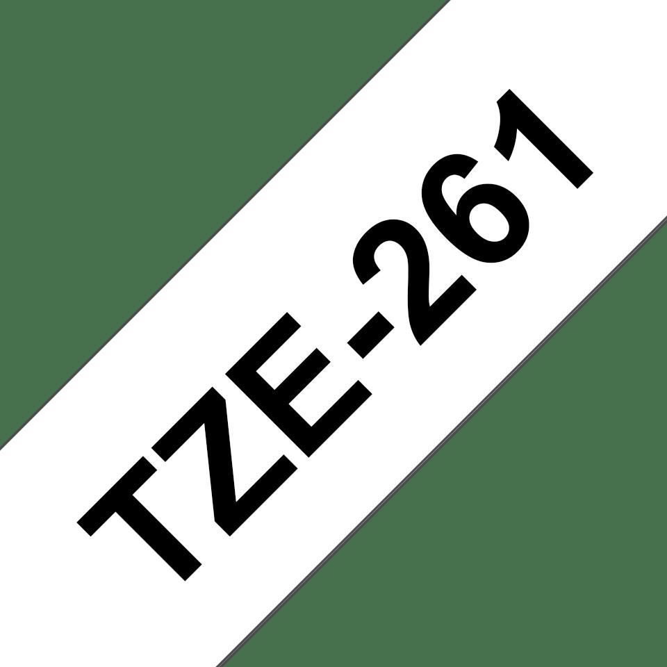 Cassette à ruban pour étiqueteuse TZe-261 Brother originale – Noir sur blanc, 36mm de large