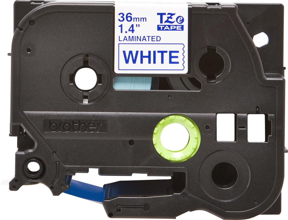 Cassette à ruban pour étiqueteuse TZe-263 Brother originale – Bleu sur blanc, 36mm de large 2