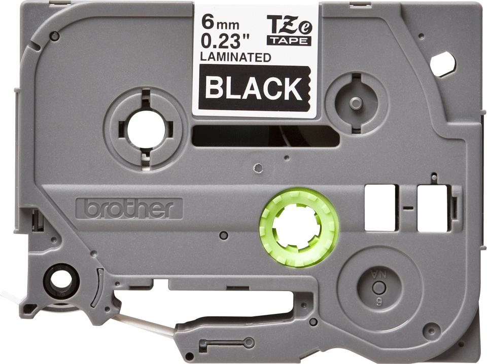 Cassette à ruban pour étiqueteuse TZe-315 Brother originale – Blanc sur noir, 6mm de large