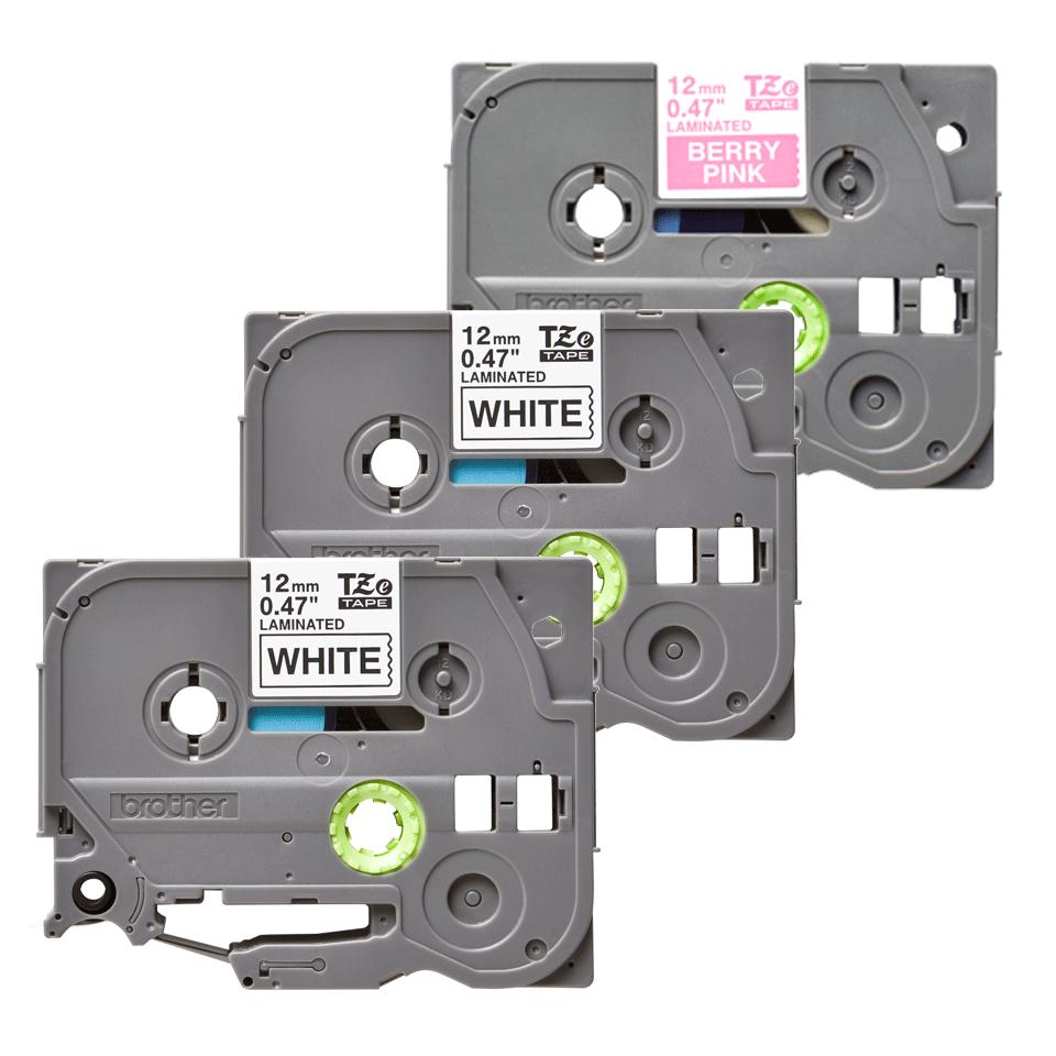 Pack de cassettes à ruban pour étiqueteuse TZe-32M3 Brother originales 3