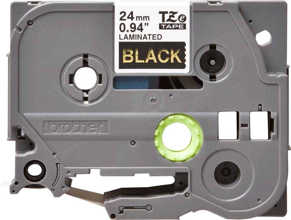 Cassette à ruban pour étiqueteuse TZe-354 Brother originale – Doré sur noir, 24mm de large 2