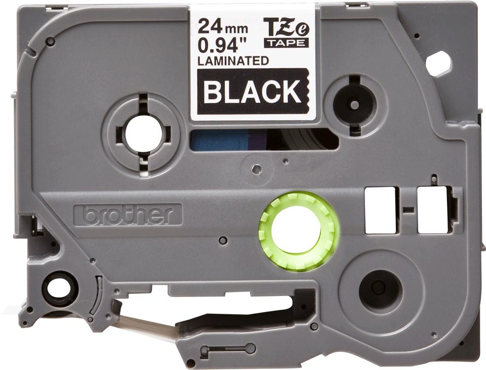 Cassette à ruban pour étiqueteuse TZe-355 Brother originale – Blanc sur noir, 24mm de large 0