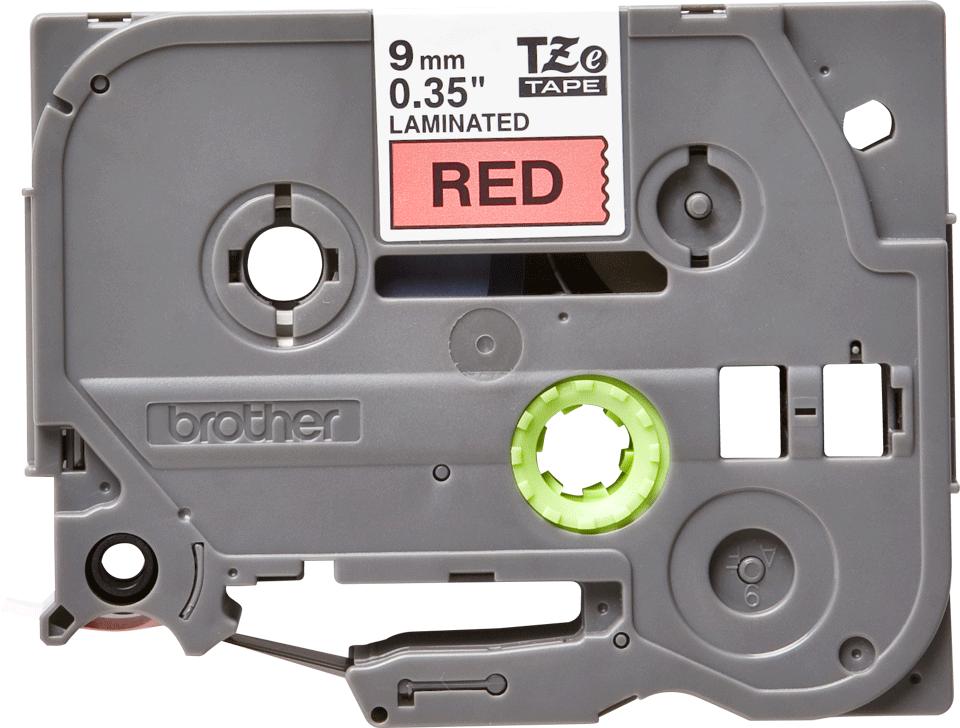 Cassette à ruban pour étiqueteuse TZe-421 Brother originale – Noir sur rouge, 9mm de large 2