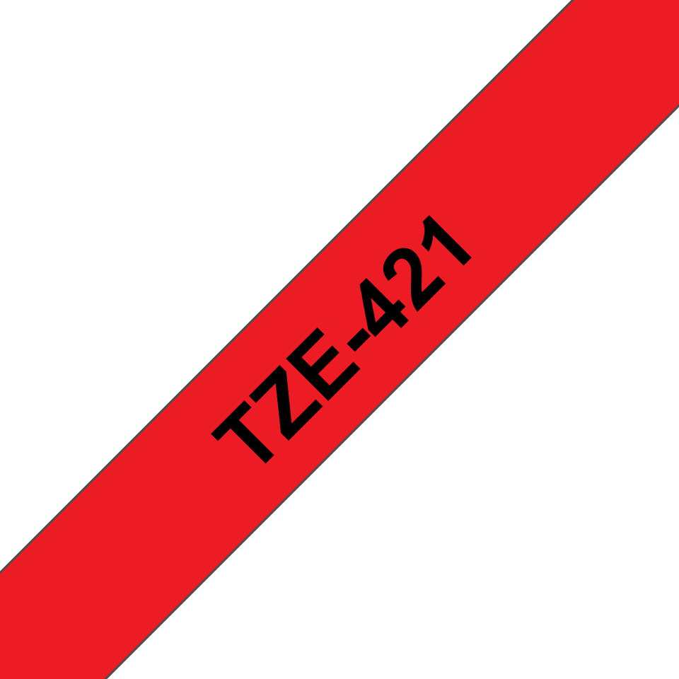Cassette à ruban pour étiqueteuse TZe-421 Brother originale – Noir sur rouge, 9mm de large