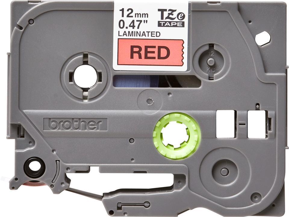 Cassette à ruban pour étiqueteuse TZe-431 Brother originale – Noir sur rouge, 12mm de large 2