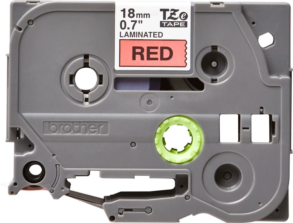 Cassette à ruban pour étiqueteuse TZe-441 Brother originale – Noir sur rouge, 18mm de large 0