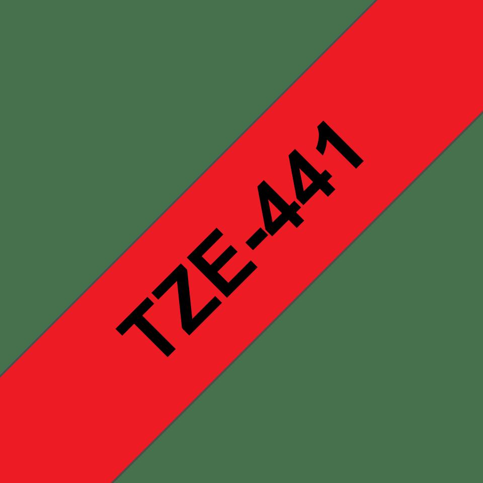 Cassette à ruban pour étiqueteuse TZe-441 Brother originale – Noir sur rouge, 18mm de large