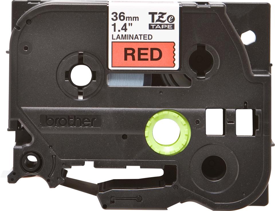 Cassette à ruban pour étiqueteuse TZe-461 Brother originale – Noir sur rouge, 36mm de large 2