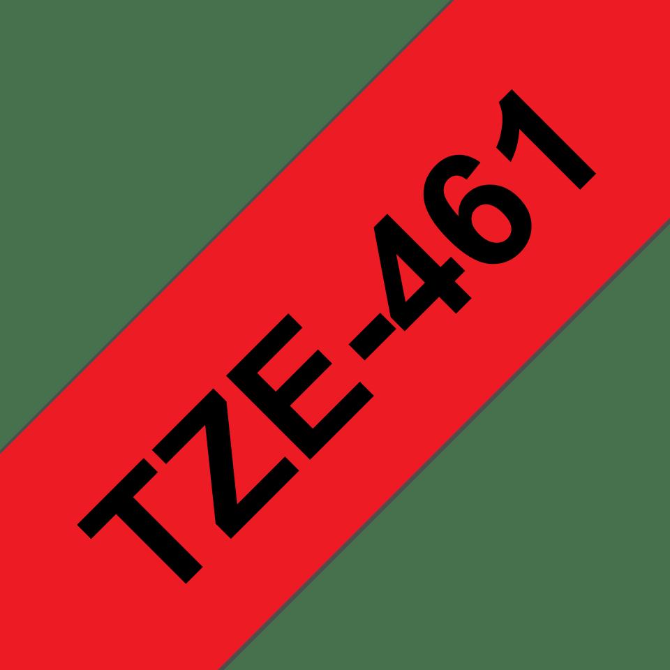 Cassette à ruban pour étiqueteuse TZe-461 Brother originale – Noir sur rouge, 36mm de large