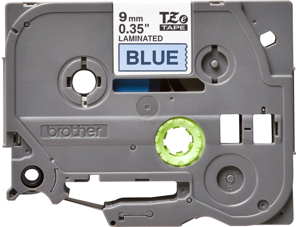 Cassette à ruban pour étiqueteuse TZe-521 Brother originale – Noir sur bleu, 9mm de large 2